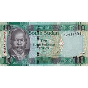 Grr-billete De Sudán Del Sur 10 Pounds 2015 - Búfalos
