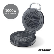 Wafflera Electrica Peabody Wm185 Antiadherente 1000w Eps