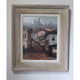 Quadro Pintura Óleo Casario Ouro Preto Arte 24x30cm