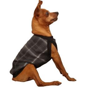 Roupa Roupinha Soft Cachorro Cães Cão Pet Estampa Xadrez