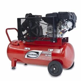 Compresor De Aire Motor A Gasolina 7hp Evans Tanque 108 Lts