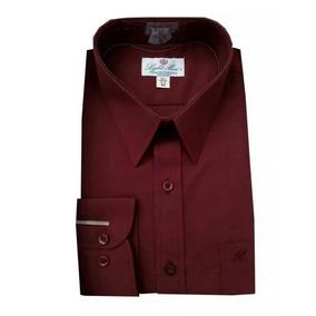 Camisa Color Vino Talla Extra 44, 46 Ó 48
