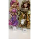 Boneca Porcelana Dama Antiga Porcelain Doll 40 Cm