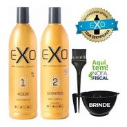 Progressiva Exoplastia Capilar Exo Hair 2x500ml + Brinde!