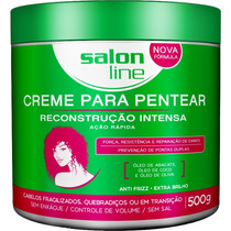 Creme Para Pentear Reconstrucao Intensa Salon Line 500g