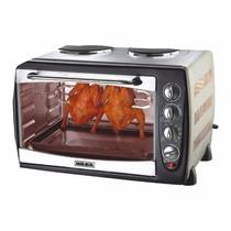 Cocina Bram Metal 2 Hornallas Y Horno 42 Litros Con Espiedo