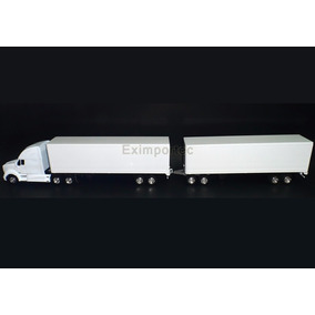 1:32 Camion Kenworth T700 Trailer Full Dolly Cajaseca Escala