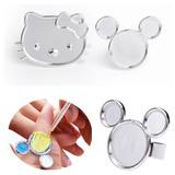 Anillo Manicure Hello Kitty Mickey Nails Uñas