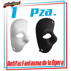 Máscara/antifaz Fantasma De La Ópera Blanco/negro Fiesta