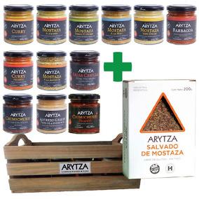 Cajita Gourmet 12 Aderezos Arytza Select + Salvado A Probar!