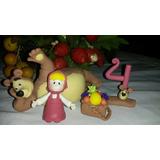Muñecos De Masha Y El Oso Masa Flexible Porcelana Fria