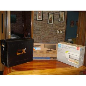 Computadora Con Monitor Mouse , Parlantes E Impresora