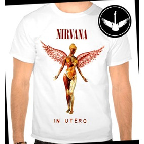 Camiseta Ou Baby Look Nirvana In Utero Banda Rock Grunge