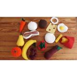 Bolsa De Comida De Tela, Jueguetes, Cocina, Frutas, Verduras