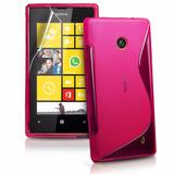 Capa Case Flexível Nokia Lumia 520 + Película