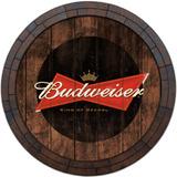 Quadro Tampa De Barril Vintage Cerveja Whisky Budweiser