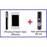 Picana Tipo Celular + Gas Pimienta 60ml Defensa Personal
