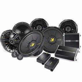 Paquete Completo De Car Audio Kicker Amplificadores Bocinas