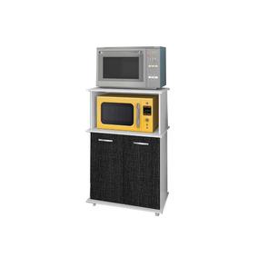 Balcão Micro-forno Nicioli Branco/preto 3d Isis