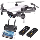 Dron Plegable S163 Cámara Angular Hd Fpv 2 Baterías Externas