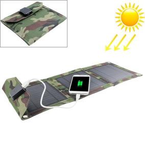 Solar Cargador 7w Portatil Panel Bolsa Para Laptops E