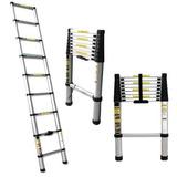 Escada De Alumínio Telescópica 8 Degraus 2,60m