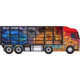 Caminhão Porta 35 Carrinhos Hot Wheels Madeira