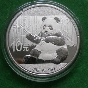 2017 1 Oz Plata Panda China Proof Espejo