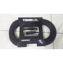 Cable Para Microfono Samson Tourtek 15m Conectores Neutrik