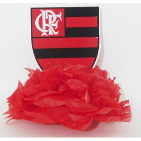 Kit 50 Display De Mesa Enfeite Flamengo Urubu E Escudo