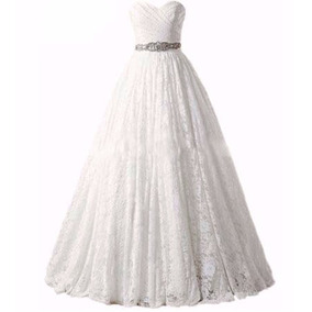 Vestido De Novia Importado Corset Corte Princesa Encaje