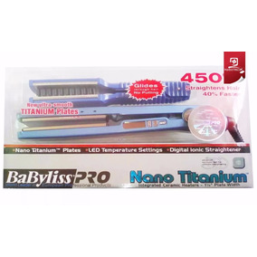 Planchas Babyliss Pro Nano Titanium 450grado + Cepillo Nuevo