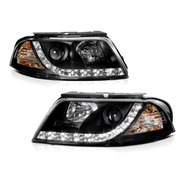 Angel Eyes Led Farol Vw Passat 2001 A 2005 Máscara Negra