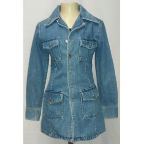 Parka Sobretudo Jeans Carmim Fem. P Vintage 1998 - Usado