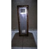 Locker De Madera Y Puerta De Chapa Rustico Y Vintage Unico!!