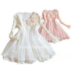 Vestido Luxo Festa Rosa Princesa Menina Infantil