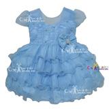 Vestido De Festa Infantil Bebê Frozen, Alice, Cinderela