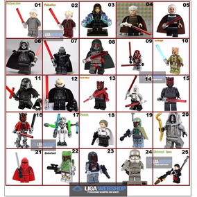 Minifigura Boneco Star Wars Sith Jedi Similar Ao Lego