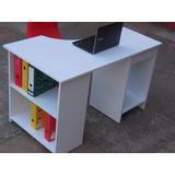 Escritorio Moderno Con Librero Mod R003, Somos Fabricantes.