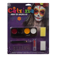 Set De Maquillaje Con Brillos Adherible Muertos Halloween