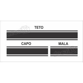 Kit Adesivo Faixa Capo, Teto E Mala Nissan March 3m Mar21