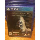 Shadow Of Mordor Goty- Ps4- Físico- Nuevo- Sellado