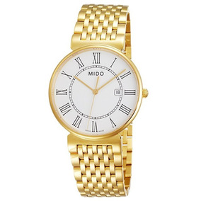 Relógio Masculino Mido Suíço Dorada Dourado Banhado Ouro