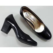 Sapato Boneca Feminino Verniz Preto