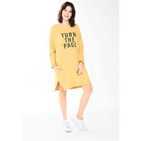 Buzo Over Size Con Frase Luz De Mar Loungewear