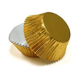 Forma De Papel Cupcake Regular Dourada Wilton