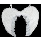 Asa Anjo Branca Penas Naturais (ou Tecido) Pronta Entrega