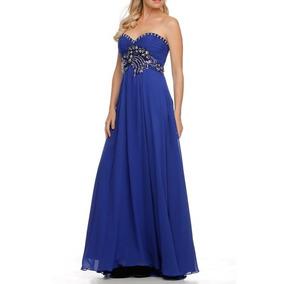 Vestido De Fiesta Juliet Modelo 532 # M Color Royal Blue