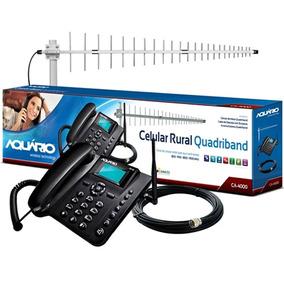 Kit Antena + Celular + Cabo Aquário Ca-4000t Área Rural