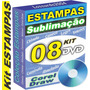 8 Dvds Estampas Sublimação Caneca Chinelo Almofada Premium